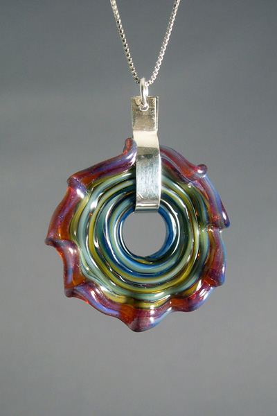Twist Disc pendant