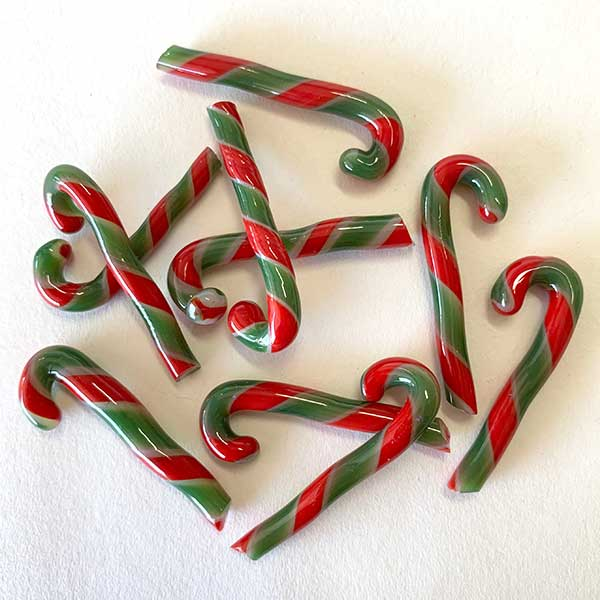 Candy Canes – 1″ Long – Red/Green